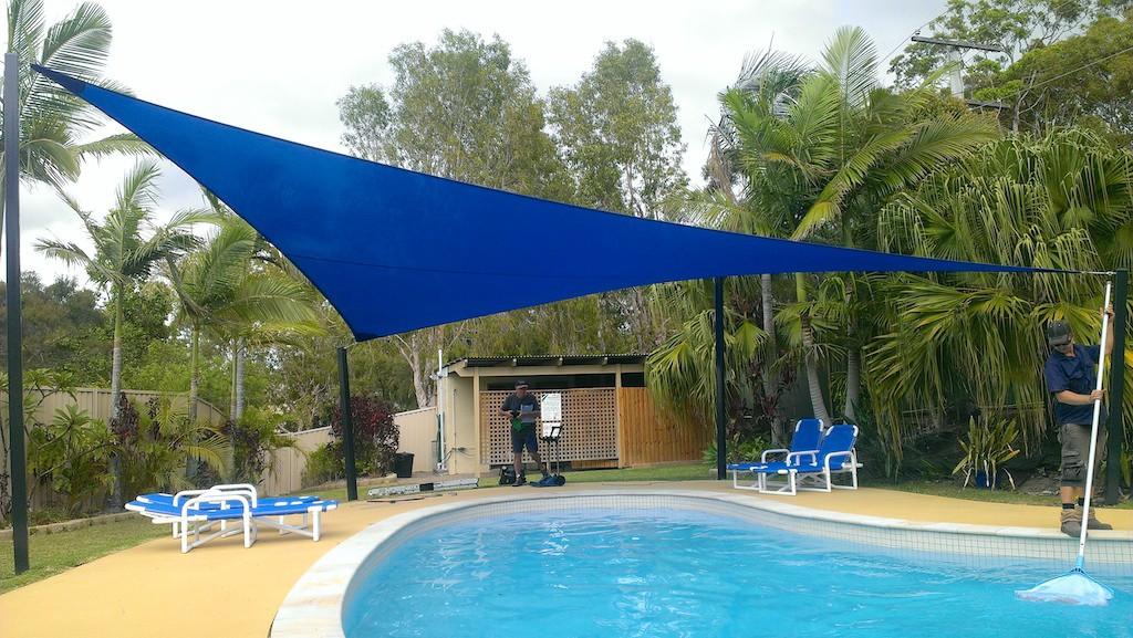 Shade sail over pool ... & Gold Coast Shade Sails - Fast Shade sails Replacements